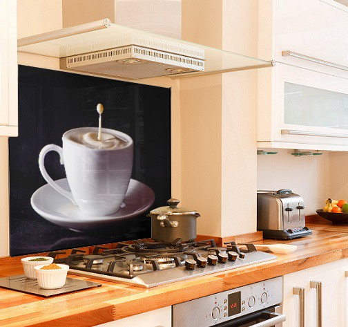 coffee-cup diy kitchen glass splashback