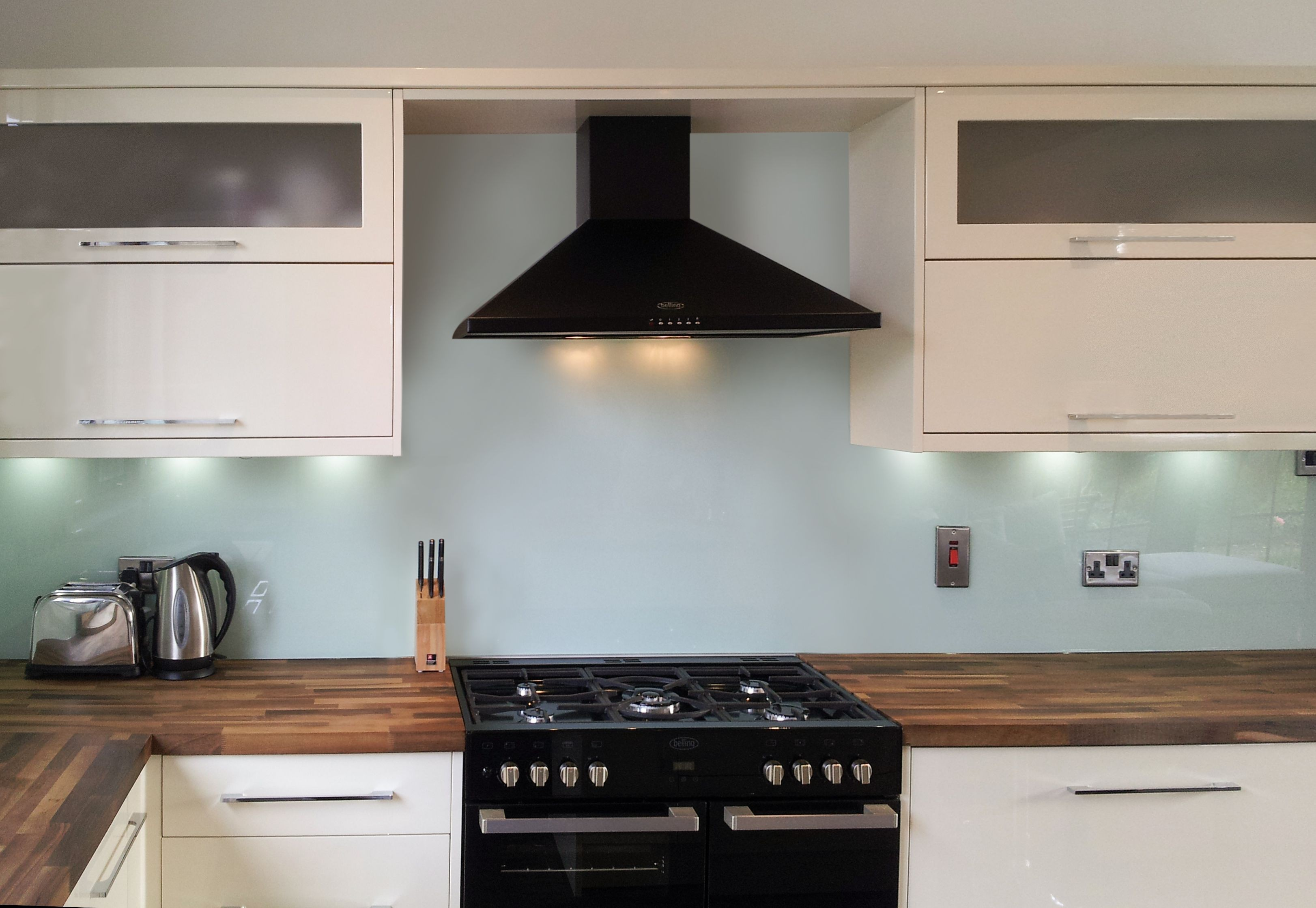 Glass - Painted Kitchen Natural Glass Splashbacks ...