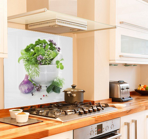 herb bowl diy kitchen glass splashback