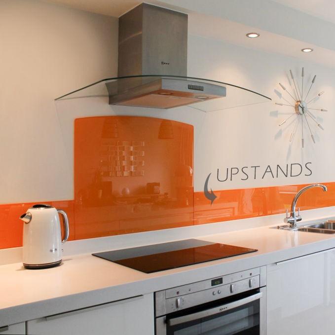 painted glass upstand orange