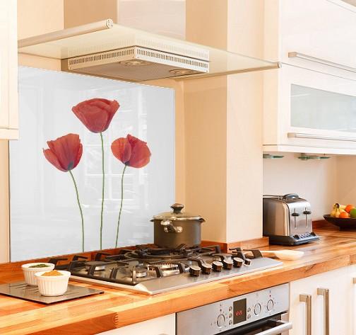 Poppy diy kitchen glass splashback