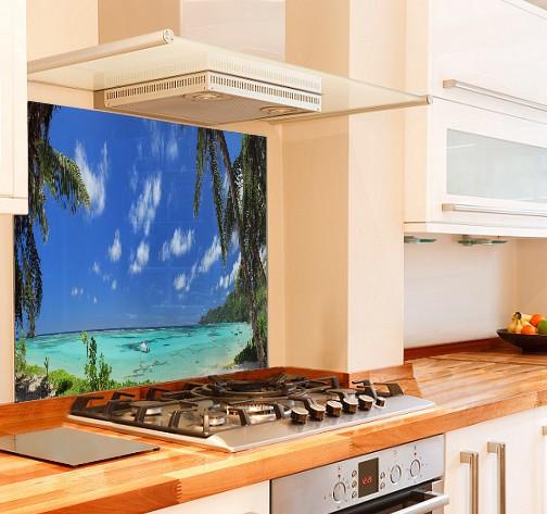 Seychelles Kitchen Glass Splashback
