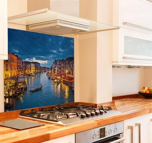 Grand Canal Kitchen Glass Splashback