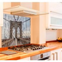 Brooklyn Bridge Kitchen Glass Splashback