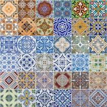 Ceramic Tiles sq diy kitchen glass splashback