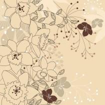 Cream Floral diy kitchen glass splashback