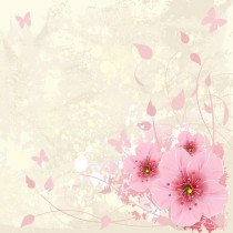 Pink Floral sq diy kitchen glass splashback