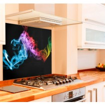Fume on Black Kitchen Glass Splashback