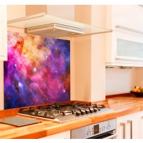 Galaxy Kitchen Glass Splashback