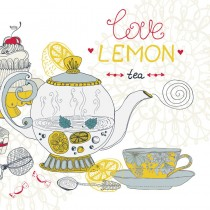 Lemon Tea sq diy kitchen glass splashback