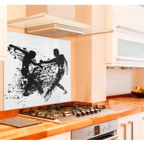 Lets Dance Kitchen Glass Splashback