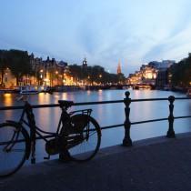 Amsterdam at Night sq diy kitchen glass splashback