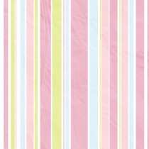 Pastel Stripes diy kitchen glass splashback
