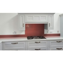 Metallic Pearl Pink diy glass kitchen splashback