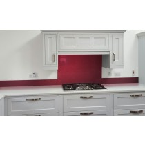 Metallic Pearl Ruby red diy glass kitchen splashback
