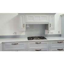 Metallic Silver diy glass kitchen upstand