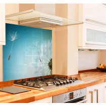 Dandelion Close Kitchen Glass Splashback