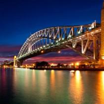 Sydney Harbour sq diy kitchen glass splashback