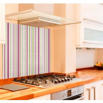 Zesty Stripe Kitchen Glass Splashback