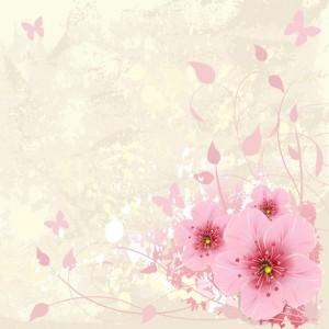 Pink Floral sq diy kitchen glass splashback