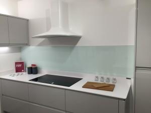 Glacier DIY Kitchen Natural glass splashback showroom