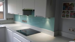 Duck egg glass splashback 1