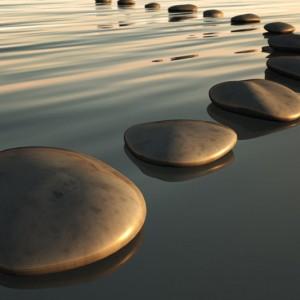 Stepping Stones sq diy kitchen glass splashback