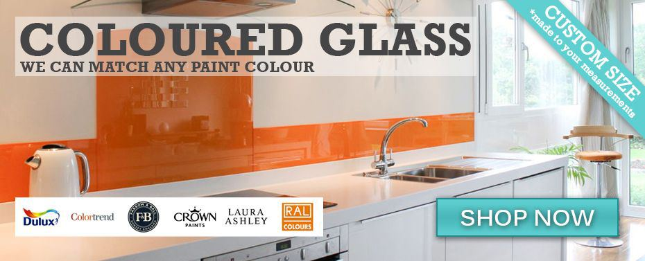 Match any paint colour with our Painted Glass DIY Splashback installed using adhesive